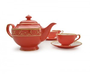 red bone china set